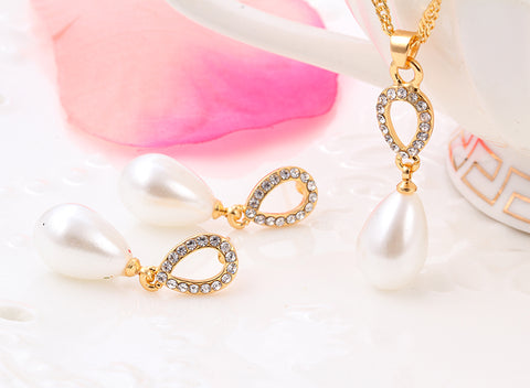 Pearl Water Drop Necklaces Set