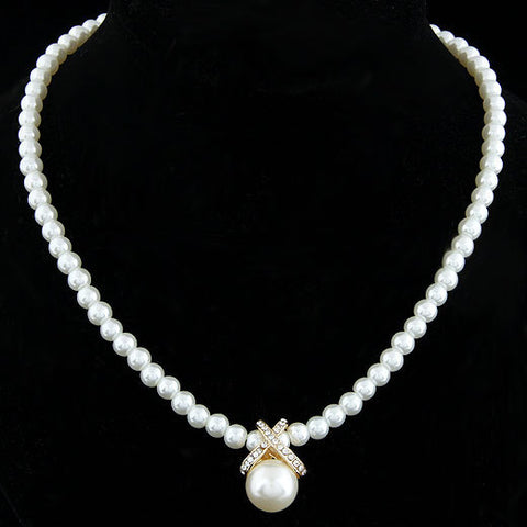 Pearl Stud Necklace