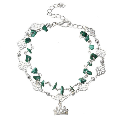 Crown Bead Anklet