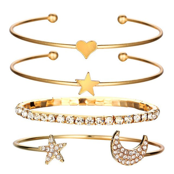 Crystal Star Bracelet Set
