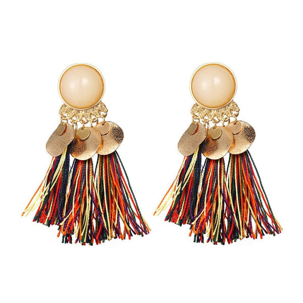 Bohemian Tassel Drop Earrings