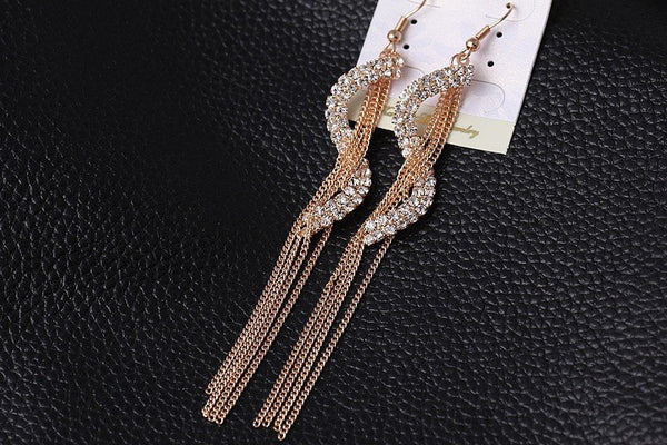 Wave Tassel Drop Earrings