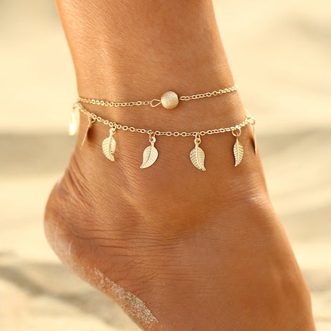 Summer Love Leaves Anklet