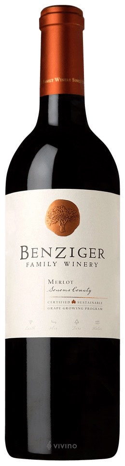 Benziger Family Winery Merlot, Sonoma County  2015