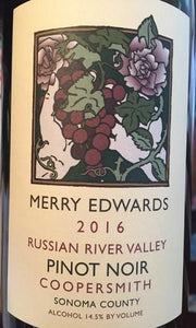Merry Edwards Pinot Noir Coopersmith 2016