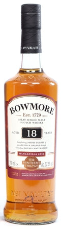 Bowmore Scotch Single Malt 18 Year Manzanilla Cask The Vintner's Trilogy 2018