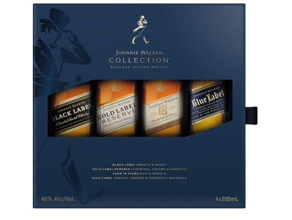 Johnnie Walker Collection 200Ml Gift 4 Pack