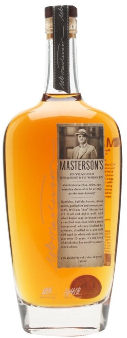Masterson's Rye Whiskey 10 Year French Oak