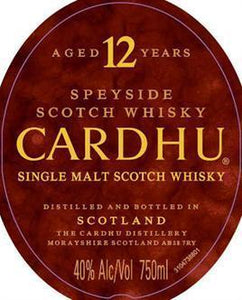 Cardhu Scotch Single Malt 12 Year-Wine Chateau