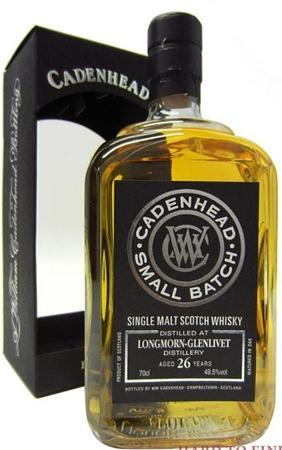 Dufftown-Glenlivet Scotch Single Malt 26 Year Bottled By Cadenhead