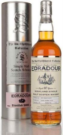 Edradour Scotch Single Malt 10 Year Unchillfiltered Bottled By Signatory 2002