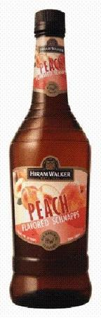 Hiram Walker Schnapps Peach-Wine Chateau