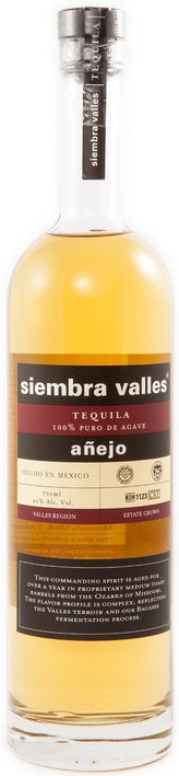 Siembra Valles Tequila Anejo