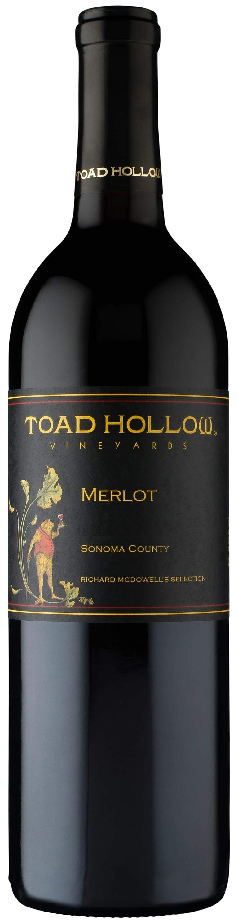 Toad Hollow Merlot Richard Mcdowell Vineyard 2016