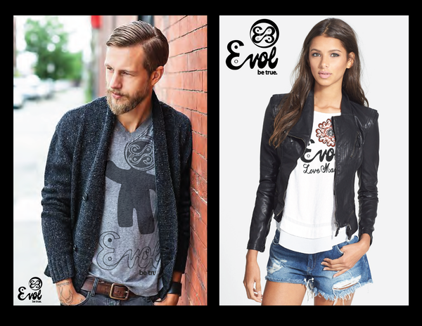 EVOL lifestyle images. Boho man and woman.