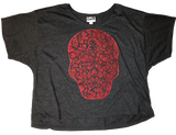 Heart Face Cropped Short Sleeve Tee Shirt