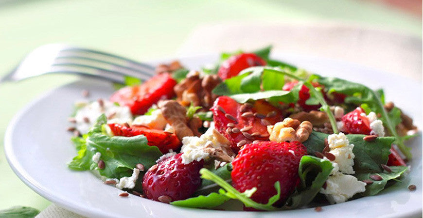 Give me 5! Strawberry & goats cheese salad