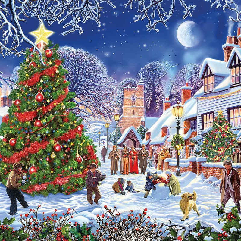 The Village Christmas Tree Puzzle, 500XL
