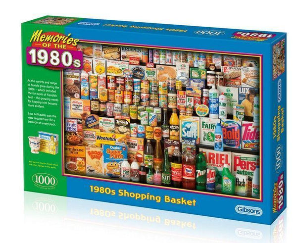 Buy 1980s Shopping Basket 1000pc Puzzle At Spring Chicken