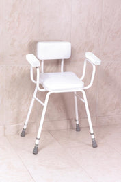 Malvern Vinyl Seat Perching Stool