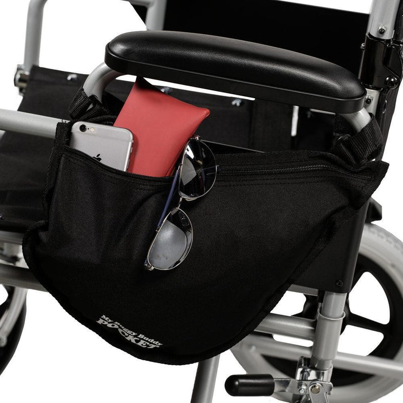 Wheelchair side pocket bag