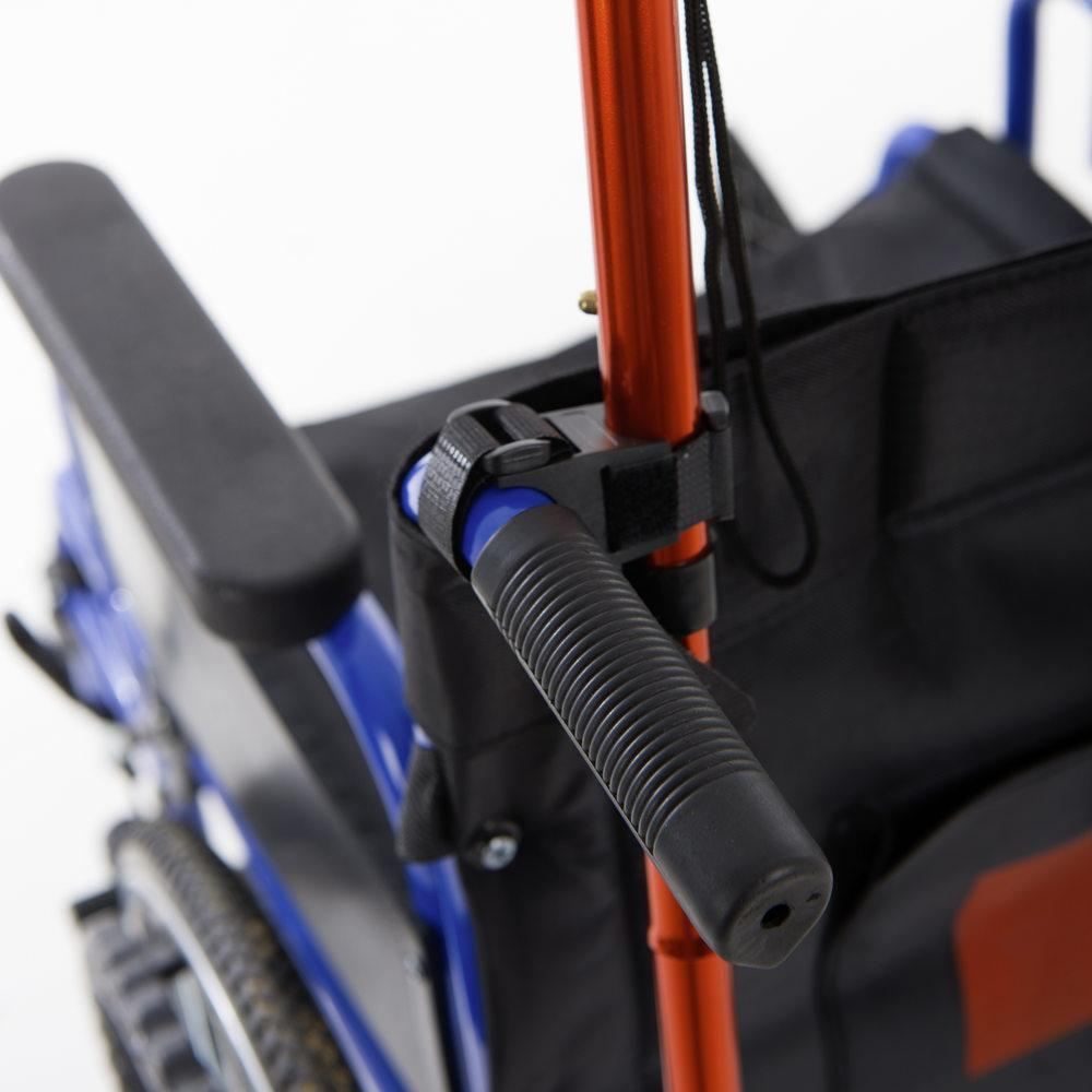 Wheelchair - walking stick holder