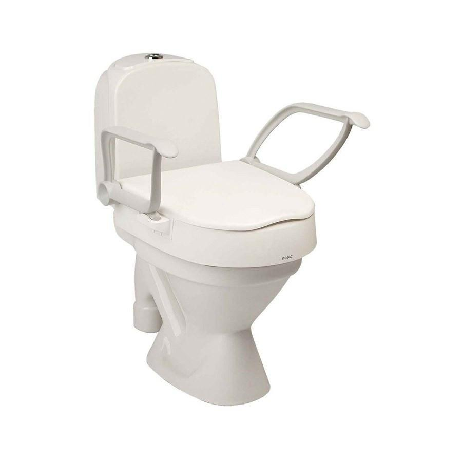 Cloo toilet seat raiser with arms