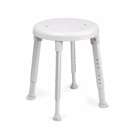 Grey Round Shower Stool