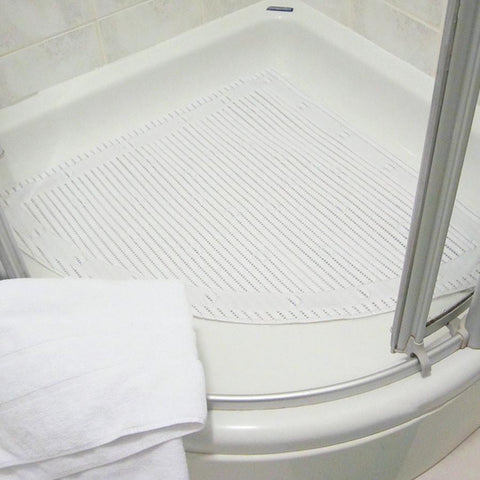 Slip Resistant Corner Shower Mat | Spring Chicken
