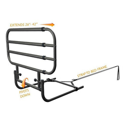 Stander Adjustable Bed Rail With Pouch