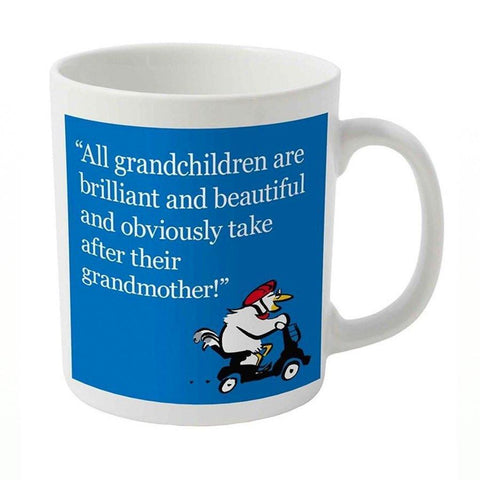 Take after their grandmother slogan mug