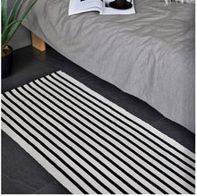 Load image into Gallery viewer, Black and white kilim rug - houseofzanele.co.za