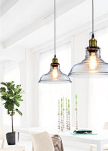 Load image into Gallery viewer, Clear Glass Pendant Light - houseofzanele.co.za