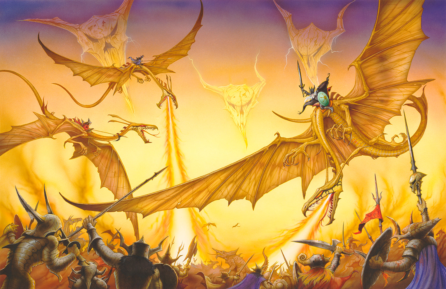 Elric and Flamefang by Rodney Matthews
