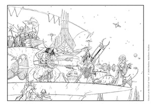 Free 'Encore at the End of Time' Colouring Sheet | © 2020 Rodney Matthews Studios