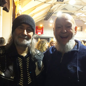 Rodney Matthews and Michael Eavis