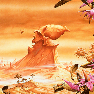 Detail from Werther's Skull by Rodney Matthews