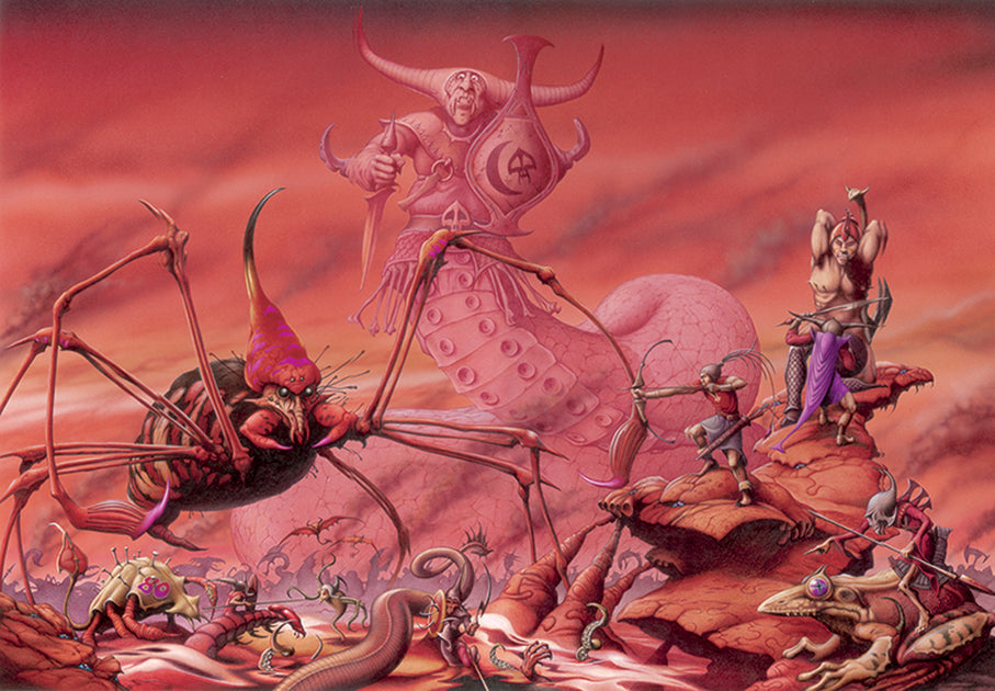The Battlefield of Chaos by Rodney Matthews