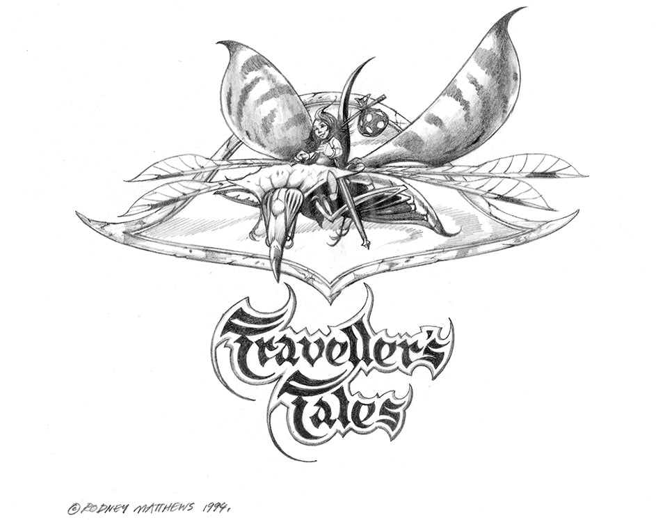 Traveller's Tales alternative logo by Rodney Matthews