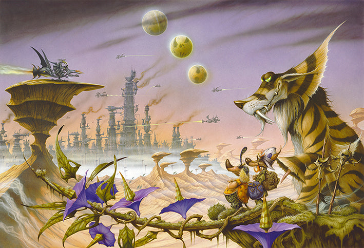 A View to Septo City by Rodney Matthews
