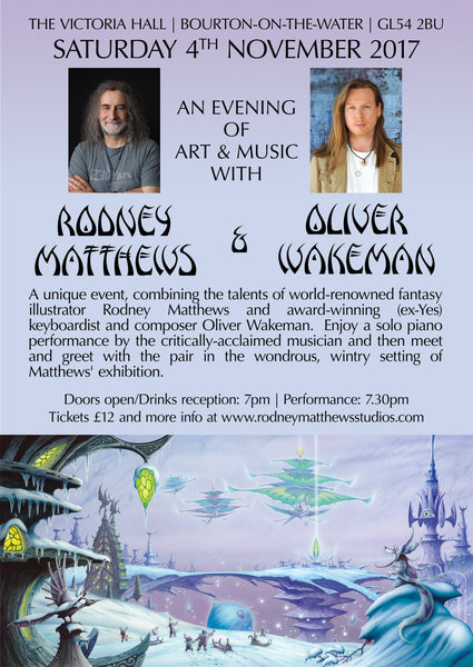 An Evening of Art & Music with Rodney Matthews and Oliver Wakeman
