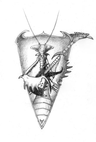 Praying Mantis Badge Design | Rodney Matthews Studios