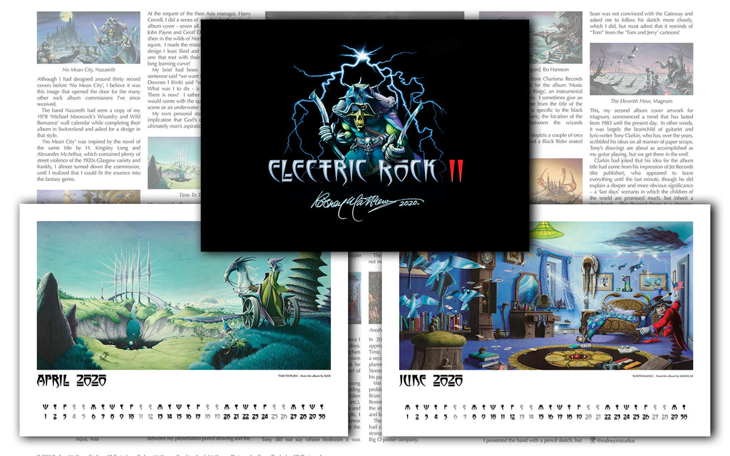 Electric Rock II calendar
