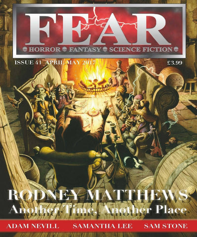 Fear Magazine Issue 41 with Rodney Matthews cover image and article | Rodney Matthews Studios