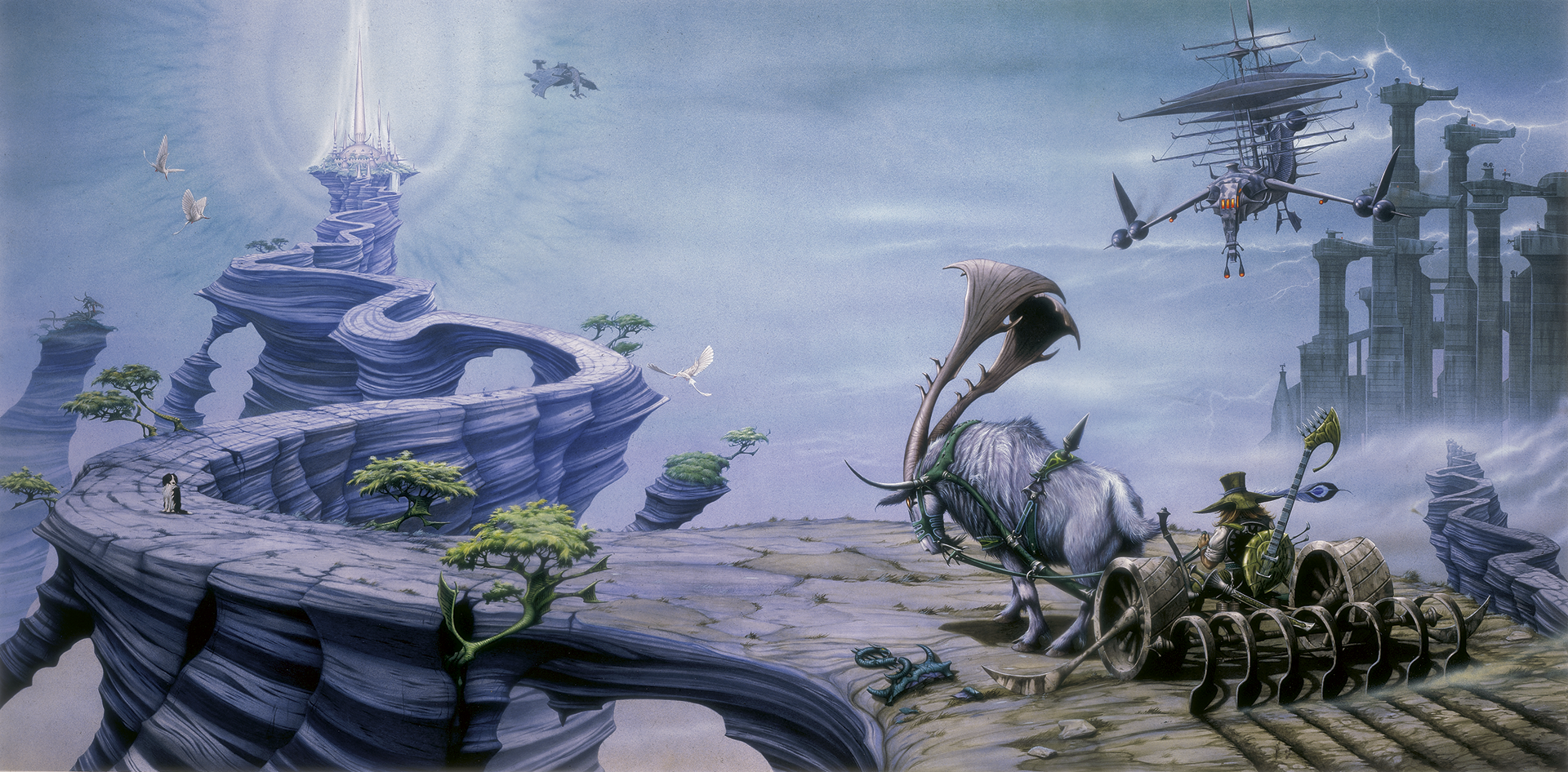 Foundation painting by Rodney Matthews