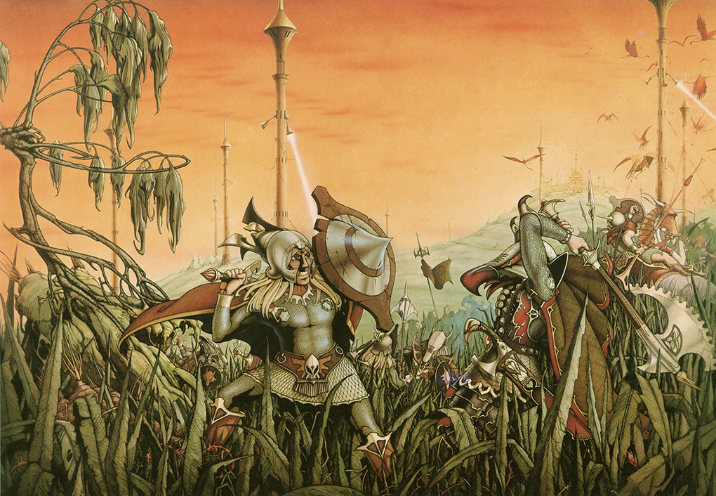 Hawkmoon Defends Castle Brass by Rodney Matthews