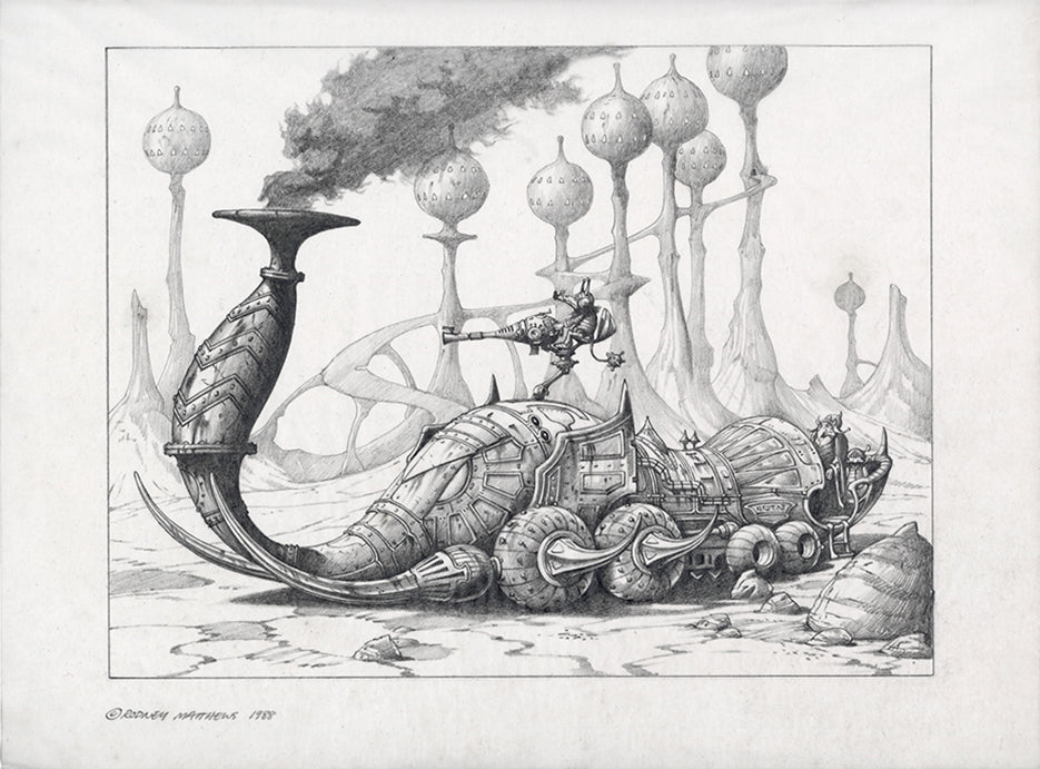 The Mammoth Machine (Early Version) by Rodney Matthews