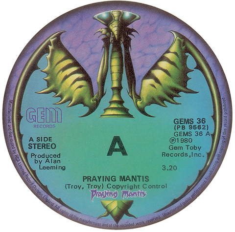Praying Mantis Beer Mat | Rodney Matthews Studios