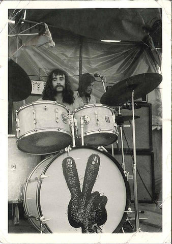 Rodney Matthews in his band Squidd at the first Glastonbury Festival