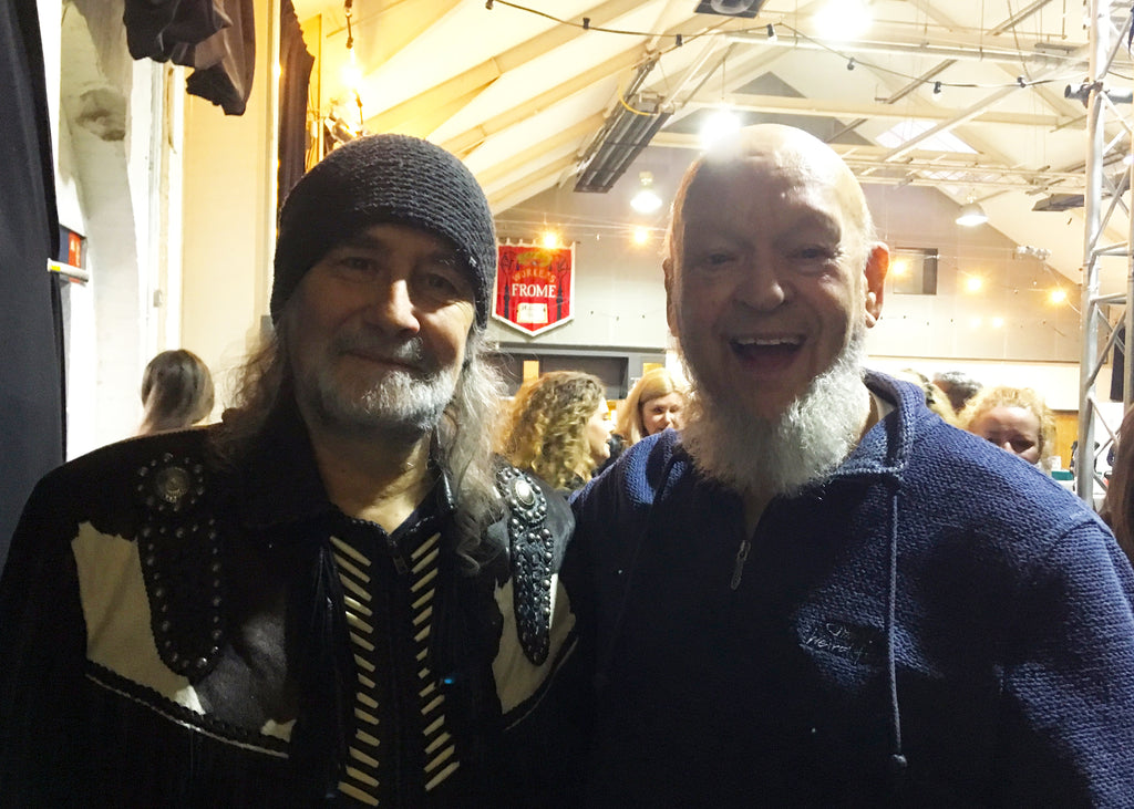 Rodney Matthews and Michael Eavis at Music Expo 2018